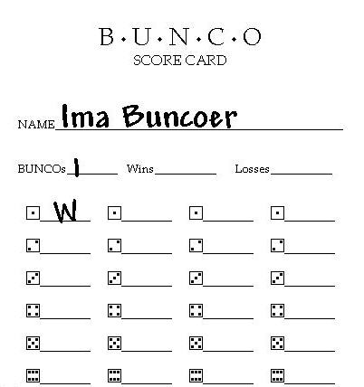 photo regarding Printable Bunco Score Cards known as bunco-rating-sheets-printable.html within