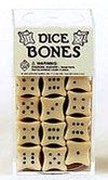 18mm Bone Dice - Box of 25