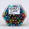 19mm Multicolored Double Dice - Set of 200