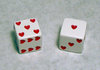 25mm Red Hearts Dice