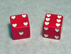 25mm White Hearts Dice
