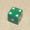 25mm White Shamrock Dice