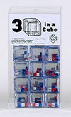 25mm Triple Dice - Red/White/Blue - Set of 100