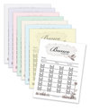 Bunco Score Sheets - Spring Theme - Pad of 50