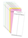 Bunco Table Tallies - Plain - Pack of 50