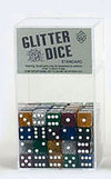 16mm Glitter Dice - Set of 100