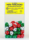 10-Sided Math Fraction Dice - Set of 100