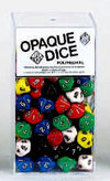 10-Sided Opaque Dice (d10) - Set of 100