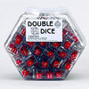 19mm Clear Double Dice - Set of 100