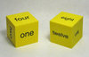 50mm Foam Number Word Dice