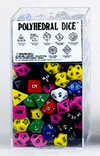 16mm Opaque Polyhedral Dice - Set of 100 Assorted