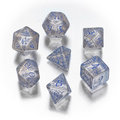 Elven dice set - Transparent Blue